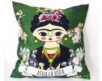 Mexican woman, home decor, Frida kahlo, frida kahlo pillow, frida kahlo portrait, frida kahlo print, frida kahlo art,feminist, feminist art