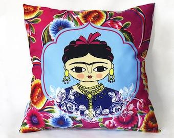 Mexican woman, cushion, pillow, feminist art, frida kahlo, frida kahlo portrait, home decor, decorative pillow, frida kahlo print, feminist