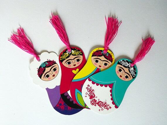 4 marque page femme mexicaine matryoshkas poup e russe etsy - Decoration mexicaine a imprimer ...