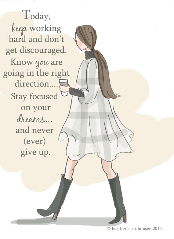 Keep Working Hard- Autumn - Art for Women - Quotes for Women - Art for  Women - Inspirational Art