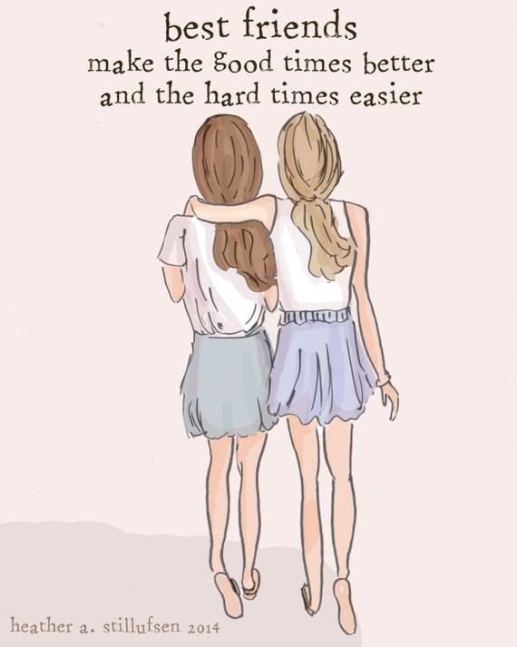 best friends sister wall art sisters digital art print etsy