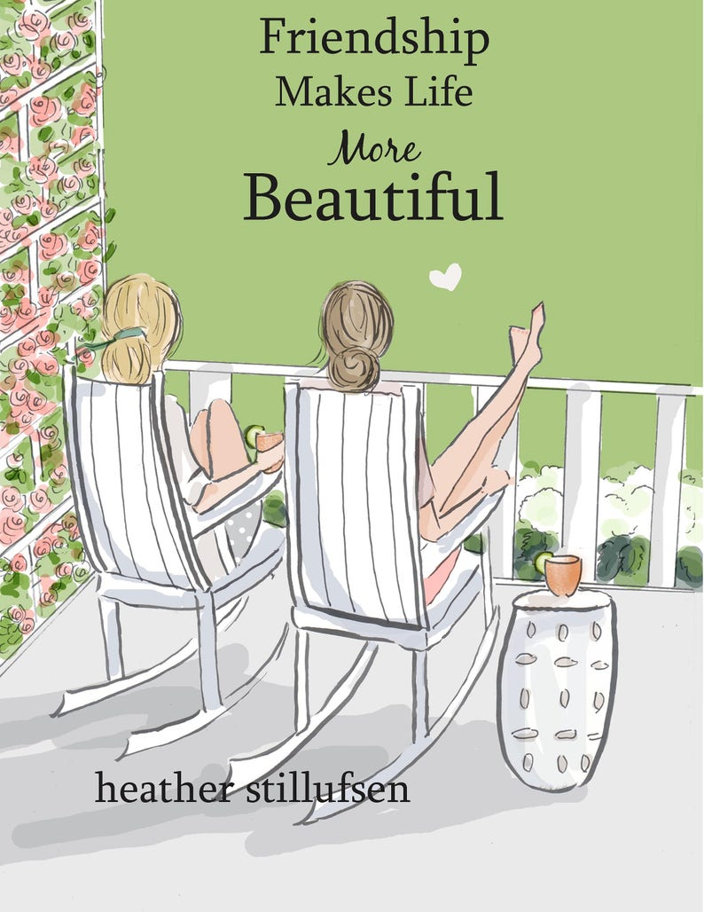 Friendship Makes Life More Beautiful Summer Art For Women Etsy