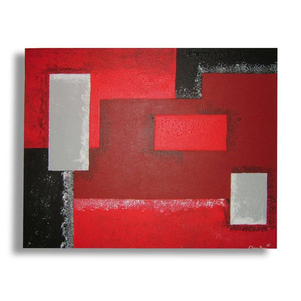 tableau toile rouge gris blanc noir moderne art contemporain etsy. Black Bedroom Furniture Sets. Home Design Ideas