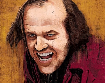 """The Shining's """"Dull Boy"""" - 12x18 signed and dated art print poster"""