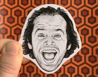 The Shining Jack Torrance Vinyl Laptop Sticker   Phone Decal