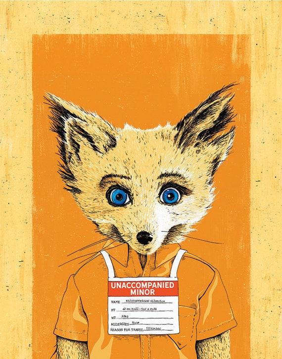 Fantastic Mr Fox S Unaccompanied Minor Etsy