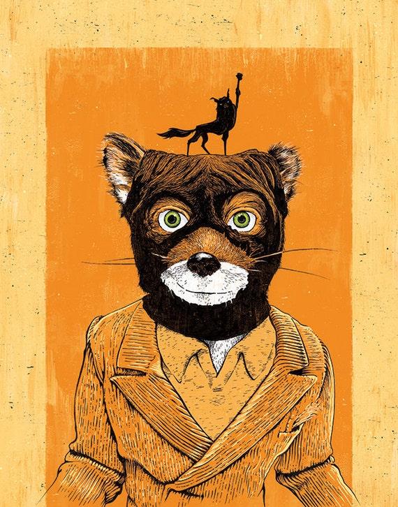Fantastic Mr Fox S Fox Yeah 12x18 Signed Etsy