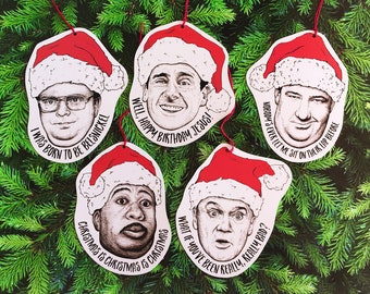 The Office Paper Christmas Tree Ornament Set of 5