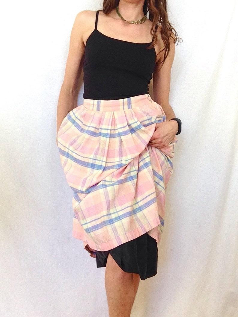 51b00fabb High Waisted Button Up Midi Skirt
