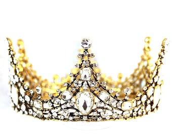 Baroque ELIZABETH Vintage Swarovski Crystal Wedding Bridal Tiaras Hair Accessory