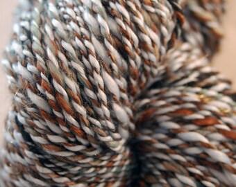 Serenity Blue PANTONE 15-3919 Tweed Handspun Art Yarn