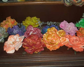 Hand Painted Hair Flowers