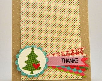 Christmas Thank You Note Card