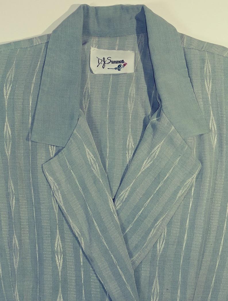 Summers Designer Sage Green Color Suit Top Long Sleeve Lightweight Office Secretary Career Business Fashion Jacket 1980s Ladies Blazer D.J