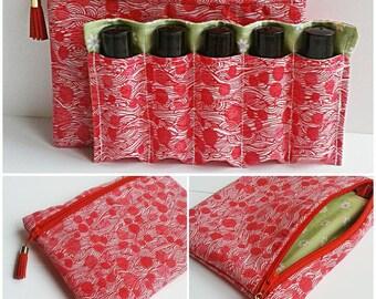 Essential Oil Bag - Essential Oil Roller Bottle Case - Essential Oil Travel Case - Travel Case - Wallet - Roller Bottle Case - 10 ml