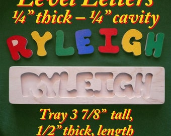 Wooden Name Puzzle - Personalized with Your One-Name - Gift: Baby Shower + Birthday + Christmas + Easter + party favor + anytime