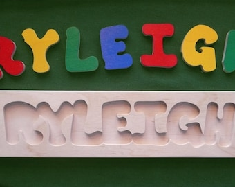 Wooden Custom Name Puzzle - any ONE name
