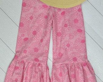 Blush Pink Mum Ruffle Pants Size 7