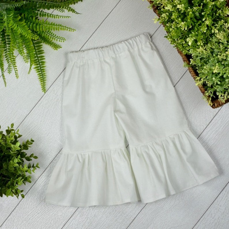 Toddler Solid Ruffle Pants image 0