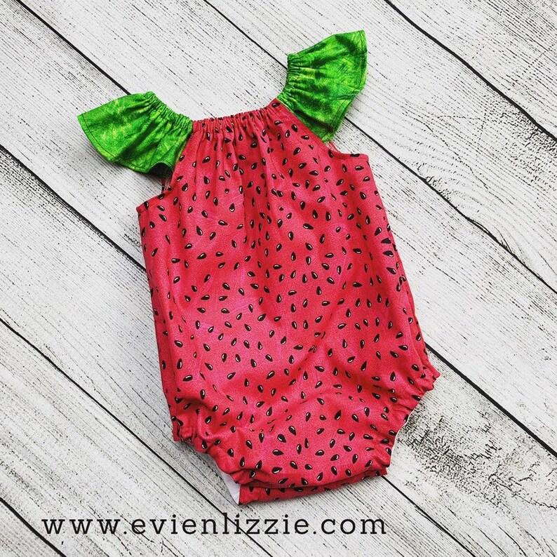 Watermelon Bubble Romper image 0