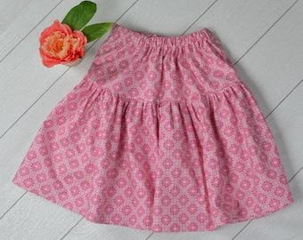 Pink Tile Skirt Size 7