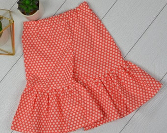 Coral Polkadot Ruffle Pants 18/24 months