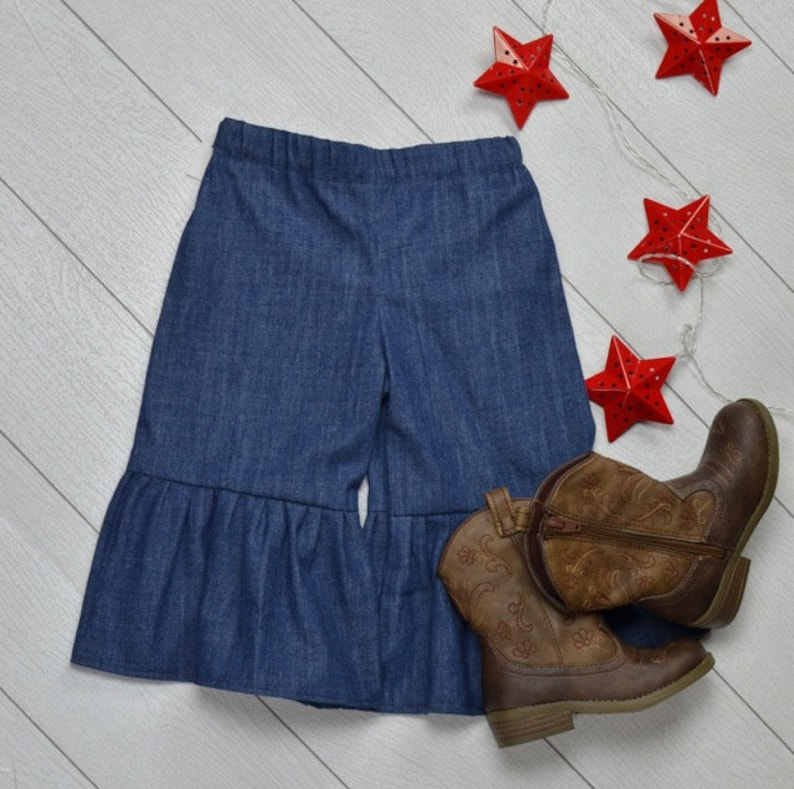 Toddler Ruffle Jeans image 0