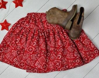 Red Bandana Skirt Size 6