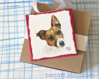 Personalized Pet Mini,Original Hand Painted,Decorative Pet Portrait Ornament