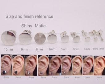 02bc95042 Gauge earrings, custom gauge flat disc studs, fake plug earrings, sterling  silver stud earrings, cheater plugs, 420MW Gauge
