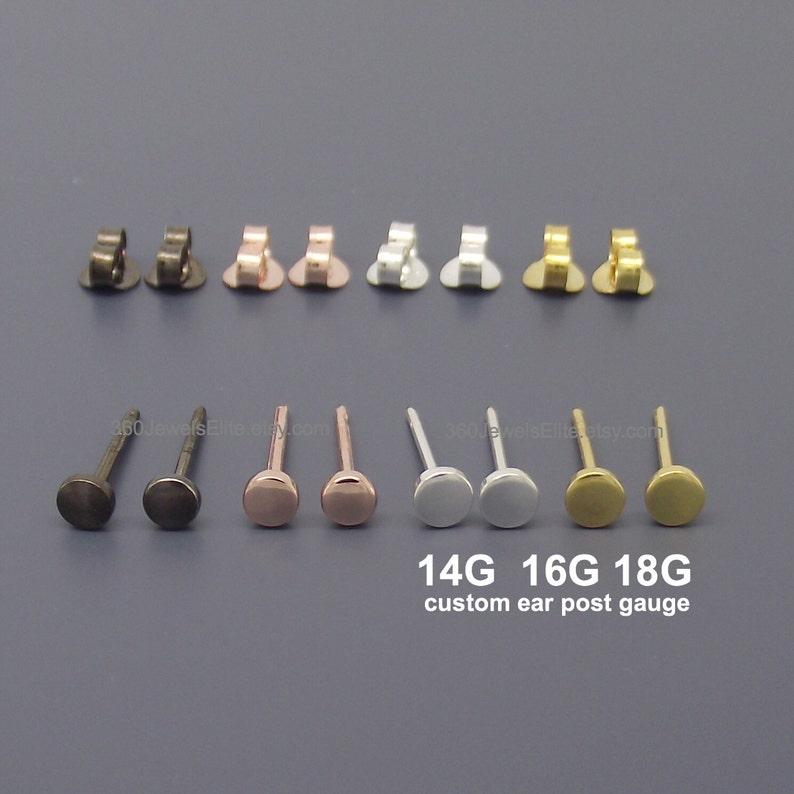 572eefd23 Gauge Stud Earrings Custom Gauge Ear Posts 12 gauge 14 | Etsy