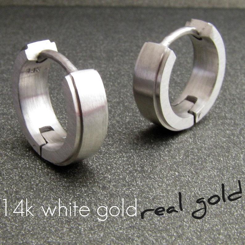 bba2685c831 Deep arctic white gold hoop earrings white gold hoop