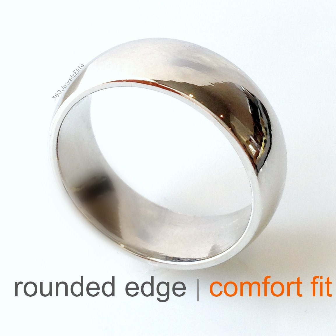 Sterling Silver Wedding Band Ring Comfort Domed Polished 9 mm 9mm Comfort Fit Band