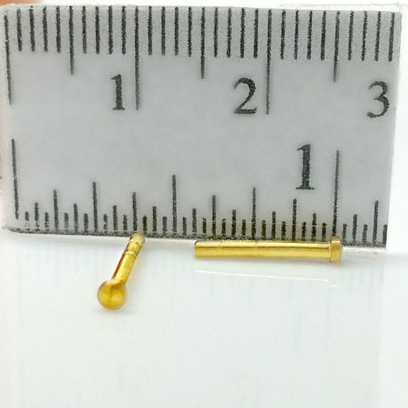 gauged stud earrings cartilage earring 14K gold 420K16G 16 gauge gold stud earring mens stud earrings solid gold stud earring