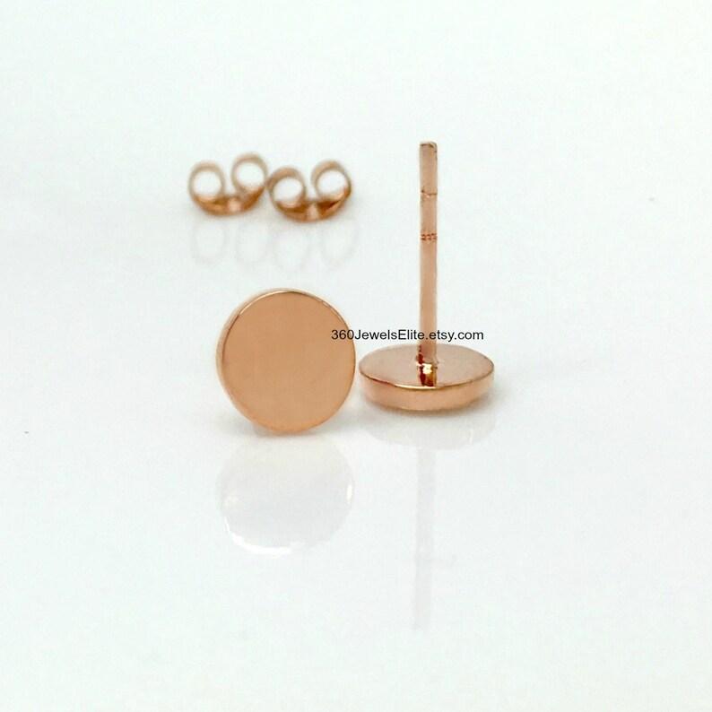 0138e66df Men's stud earrings space coral stud earrings rose gold   Etsy