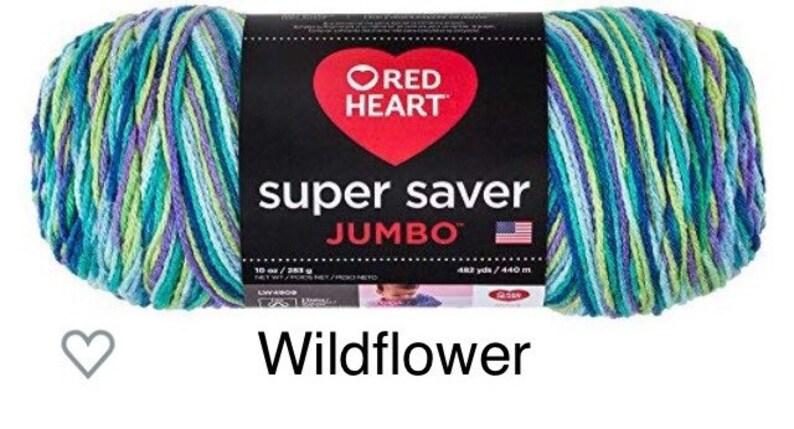 Wildflower RED HEART  Super Saver Jumbo Yarn