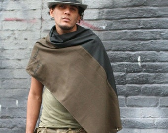 Scarf, Free Shipping, Gray Wool Scarf, Winter Accessories, Men's Wool Scarves, Holiday Gifts