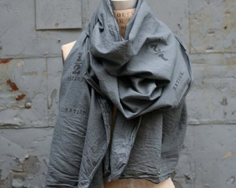 Unisex Gray Scarf,  with Free Domestic Shipping
