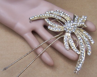 Rhinestone Hair Comb Indonesia Bali hair pin hair pick hair accessory hair jewelry hair ornament headdress decorative comb AS FOUND (AAF)