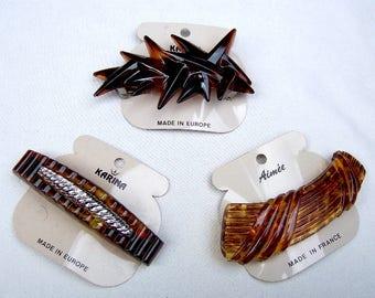 Vintage hair barrette Karina 1980s hair slide hair clip hair ornament hair jewelry (ABI)