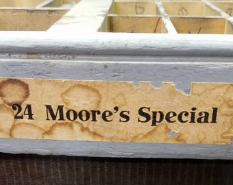 Vintage Metal Letterpress Type 24 Point Moore's Special font