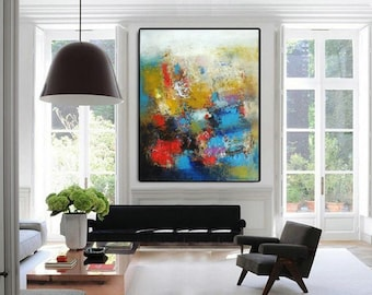 Wall art abstract canvas art prints, oversized modern art extra large paintings, giclee art print Etsy wall decor vertical artwork abstracts