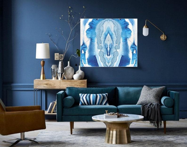 Camera Da Letto Blu Cobalto : Arte della parete di fetta agata blu stampa giclee grande etsy