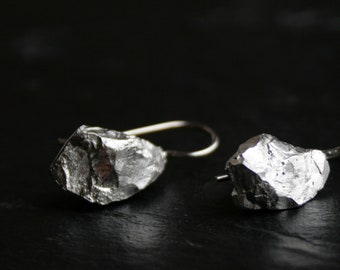 Mineral inspired solid sterling silver dangle earrings - READY to SHIP