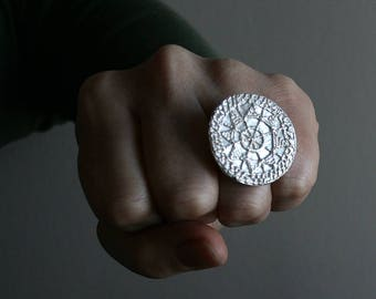 Statement Lacey Ring - OOAK, size 9