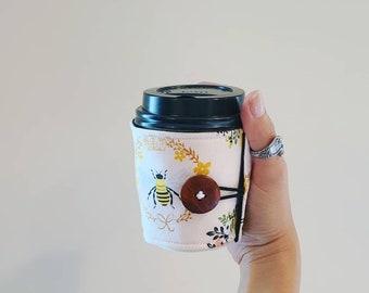 The Coffee Sleeve. Bee Happy