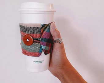 The Coffee Sleeve. Autumn Flannel Burberry Vibes