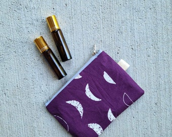 Zip Bag{Moon Phases} Essential Oils - Coin Purse