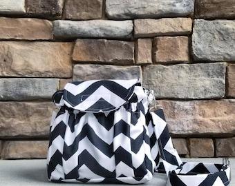 Camera Bag - Padded - Chevron - You CHOOSE Print - Made to Order