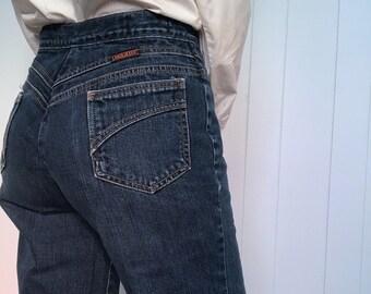 7fd7dd1940 70s Blue Jeans Wide Leg High Waisted Disco Retro Landlubber 28 Waist Small S